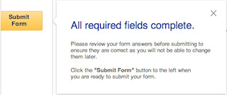 screenshot of the submit button